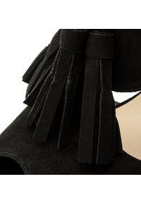 Czarne sandały Brenda Zaro z aplikacjami, na co dzień, casualowe