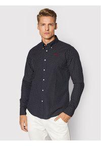 La Martina Koszula SMC009 PP551 Granatowy Regular Fit. Kolor: niebieski
