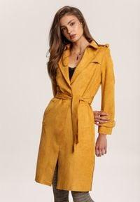 Renee - Żółty Płaszcz Usinlenne. Kolor: żółty