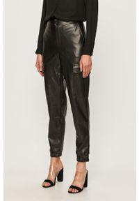 Czarne spodnie materiałowe Noisy may na co dzień, casualowe, z podwyższonym stanem