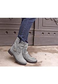 Szare botki Zapato wąskie, bez zapięcia