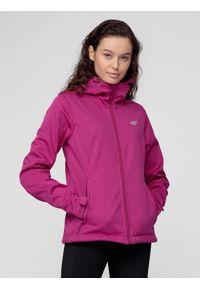 Różowa kurtka softshell 4f