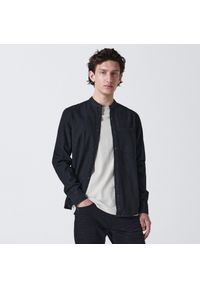 Cropp - Jeansowa koszula - Czarny. Kolor: czarny. Materiał: jeans