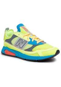 Żółte buty sportowe New Balance na co dzień, z cholewką, w kolorowe wzory