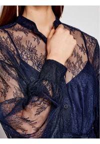 Ermanno Firenze Sukienka koktajlowa AB11PIZ Granatowy Regular Fit. Kolor: niebieski. Styl: wizytowy