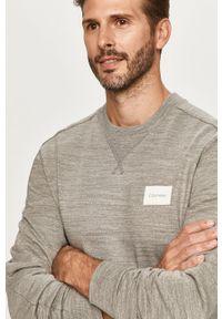 Szara bluza nierozpinana Calvin Klein casualowa, bez kaptura, melanż, na co dzień