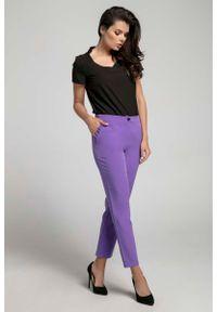 Fioletowe spodnie Nommo eleganckie