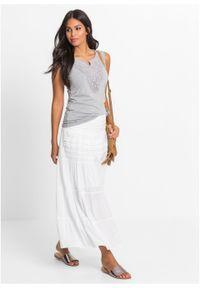 Biała spódnica bonprix na lato, długa