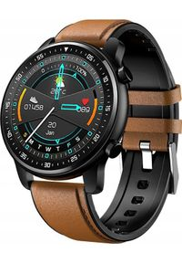 Brązowy zegarek ZAXER smartwatch