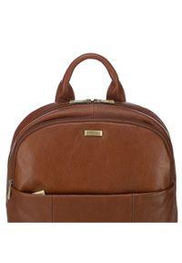 Wittchen - Męski plecak na laptopa skórzany. Materiał: skóra. Wzór: aplikacja, paski. Styl: casual