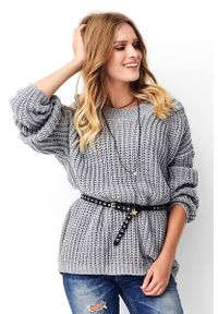 Szary sweter oversize Makadamia