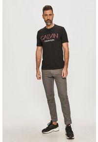 Czarny t-shirt Calvin Klein casualowy, na co dzień