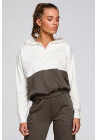 e-margeritka - Bluza damska z kapturem bawełniana - s/m. Okazja: na co dzień. Typ kołnierza: kaptur. Materiał: bawełna. Styl: elegancki, casual