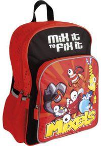 REMA Plecak szkolny 2-komorowy MX-01 Mixels czerwono-czarny (208188). Kolor: wielokolorowy, czerwony, czarny