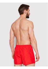 Calvin Klein Swimwear Szorty kąpielowe KM0KM00591 Czerwony Regular Fit. Kolor: czerwony