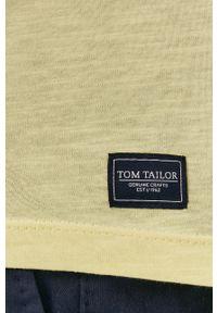 Żółty t-shirt Tom Tailor casualowy, na co dzień, z nadrukiem