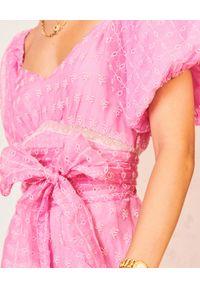 Sukienka maxi, z haftami, na imprezę