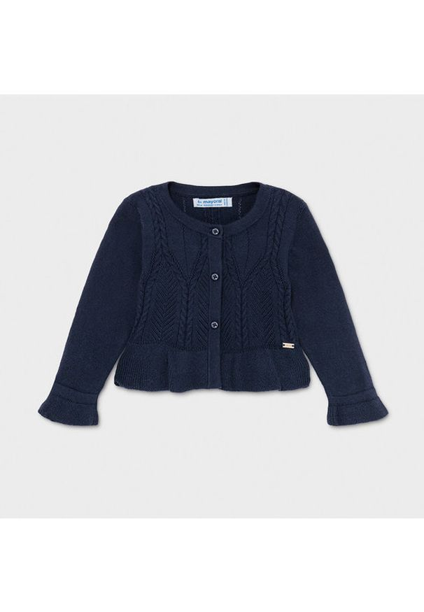 Mayoral Sweter 1335 Granatowy Regular Fit. Kolor: niebieski