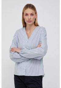 Mos Mosh - Koszula. Okazja: na co dzień. Kolor: niebieski. Materiał: tkanina. Styl: casual