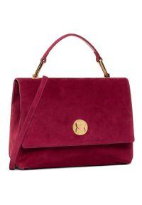 Czerwona torebka klasyczna Coccinelle zamszowa