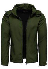 Zielona kurtka Recea z kapturem