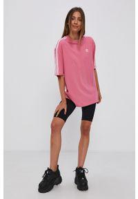 adidas Originals - T-shirt bawełniany. Kolor: fioletowy. Materiał: bawełna