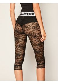 Versace Jeans Couture Legginsy D5HZA162 Czarny Slim Fit. Kolor: czarny