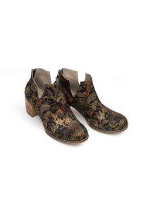 Złote botki Zapato na lato, na spacer