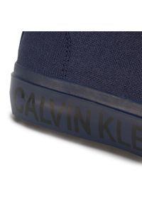 Niebieskie półbuty Calvin Klein Jeans z cholewką, na co dzień, casualowe