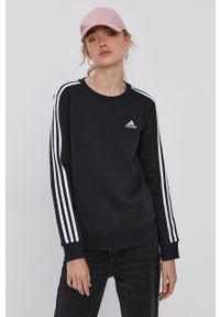 Adidas - adidas - Bluza. Okazja: na co dzień. Kolor: czarny. Materiał: dzianina, bawełna, poliester. Długość rękawa: długi rękaw. Długość: długie. Styl: casual