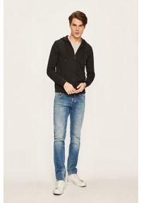 Czarna bluza rozpinana Armani Exchange casualowa, z kapturem
