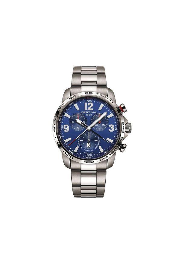 Niebieski zegarek CERTINA elegancki