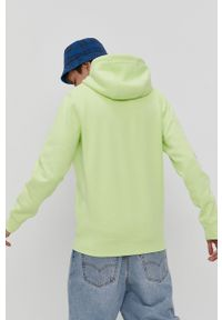 Tommy Jeans - Bluza. Okazja: na co dzień. Kolor: zielony. Materiał: dzianina, bawełna. Wzór: gładki, aplikacja. Styl: casual