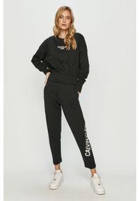 Czarna bluza Calvin Klein Jeans bez kaptura, casualowa, z nadrukiem #5