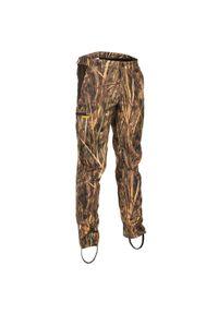 SOLOGNAC - Spodnie myśliwskie lekkie 500 camo. Materiał: bawełna, materiał, elastan