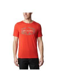 Czerwona koszulka sportowa columbia