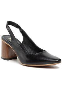 Czarne sandały na średnim obcasie, na co dzień, na obcasie, casualowe