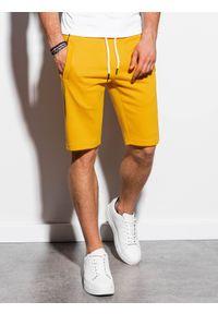 Żółte szorty Ombre Clothing krótkie #4