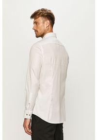 Biała koszula JOOP! długa, z włoskim kołnierzykiem, elegancka