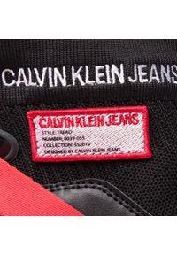 Czarne półbuty Calvin Klein Jeans na płaskiej podeszwie, z cholewką