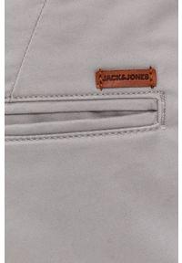 Jack & Jones - Szorty. Okazja: na co dzień. Kolor: szary. Materiał: tkanina, elastan, bawełna. Wzór: gładki. Styl: casual #3