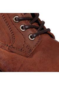 Brązowe buty zimowe Jack & Jones eleganckie, z cholewką