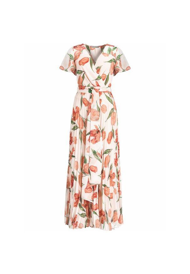 Pomarańczowa sukienka Marella na lato