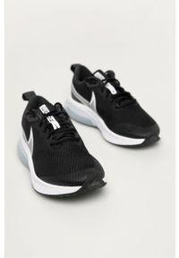 Czarne buty sportowe Nike Kids z cholewką, na sznurówki