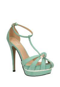Zielone sandały Lu Boo klasyczne, na lato