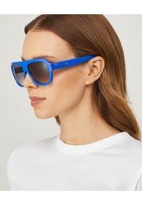 CELINE - Okulary. Kolor: niebieski. Wzór: aplikacja
