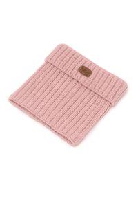 Różowy szalik PaMaMi na zimę