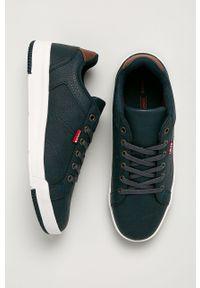 Niebieskie sneakersy Levi's® z cholewką, w kolorowe wzory