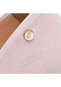 Różowe półbuty Oleksy z aplikacjami, na średnim obcasie, na szpilce