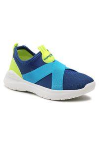 Superfit - Sneakersy SUPERFIT - 1-000310-8000 S Blau/Gelb. Kolor: niebieski. Materiał: materiał